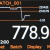 Elcometer 130 grafisk visning ppm